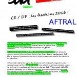 P1 Profession foi SUD FPA AFTRAL Elections professionnelles 2016