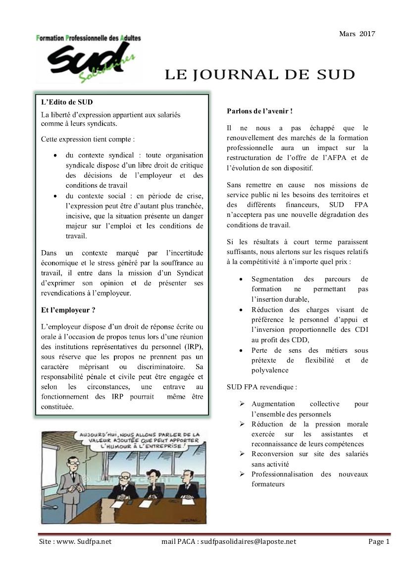 p 1 SUD FPA en PACA mars 2017 VD